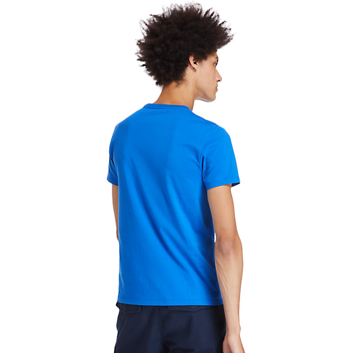 Cotton Logo T-Shirt for Men in Blue-