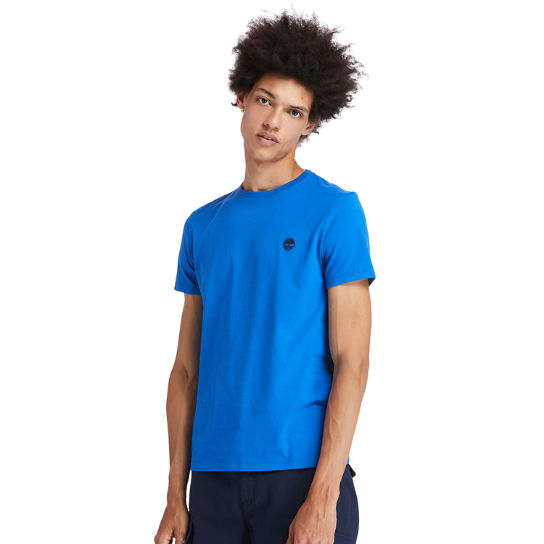 Cotton Logo T-Shirt for Men in Blue | Timberland