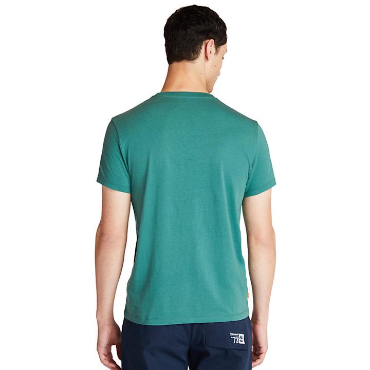 T-shirt à logo en coton biologique pour homme en vert-
