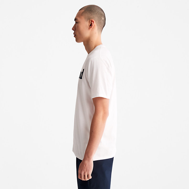 Linear Logo T-Shirt for Men in White-