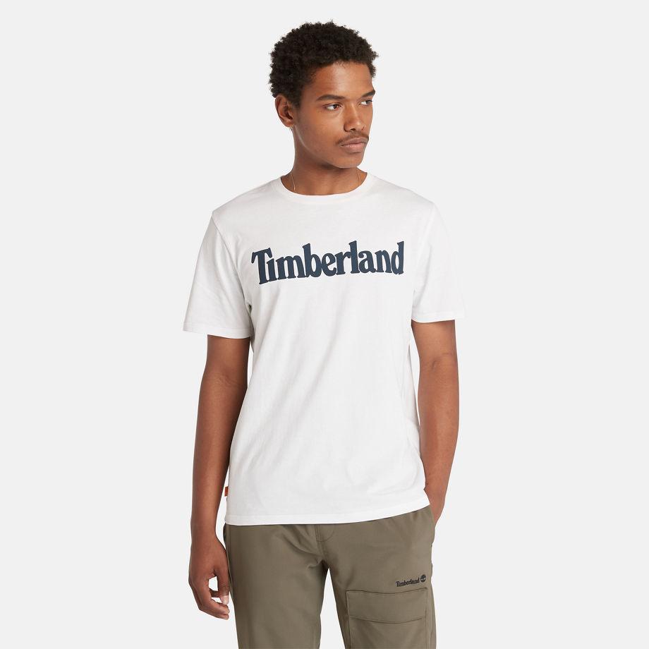 T-shirt À Logo Linéaire En , Taille L - Timberland - Modalova