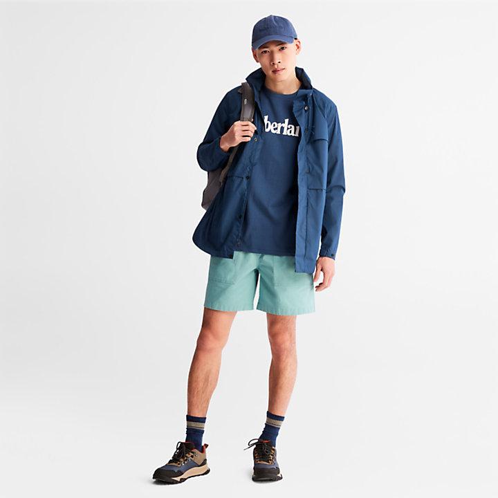 Linear Logo T-Shirt for Men in Dark Blue-