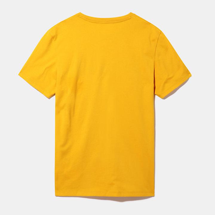 T-Shirt mit linearem Logo für Herren in Gelb-