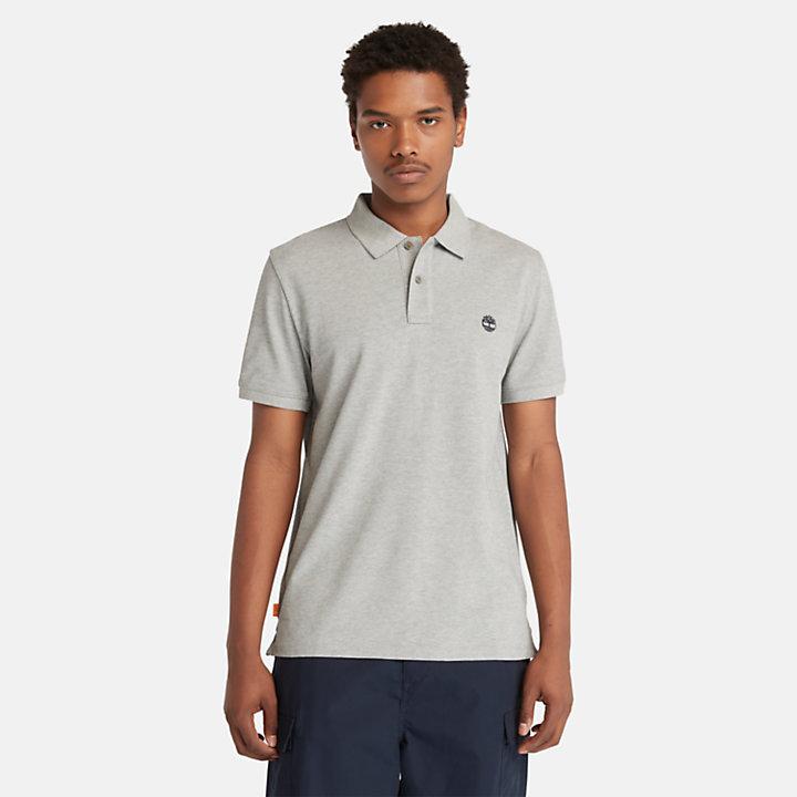 Millers River Pique Poloshirt voor heren in grijs-