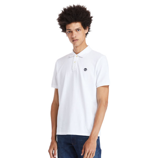 Millers River Pique Polo Shirt for Men in White | Timberland