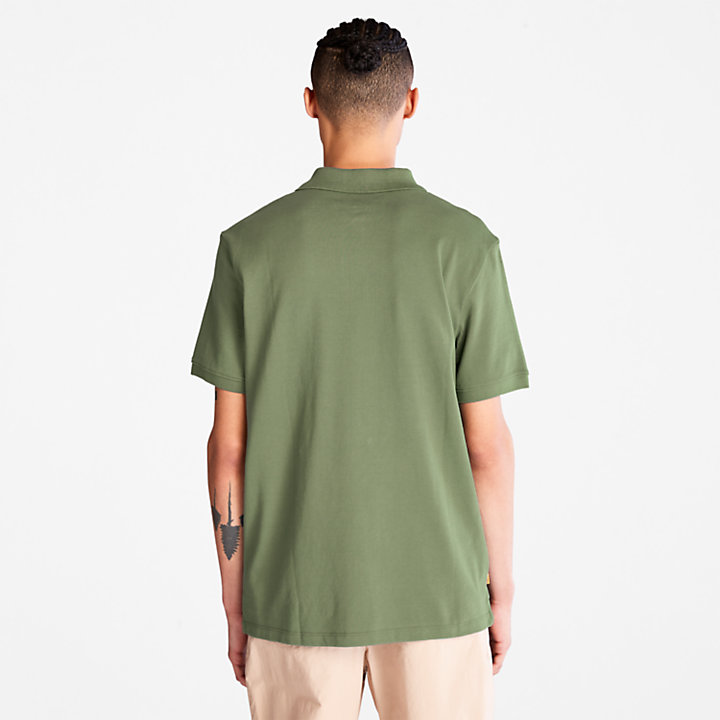 Millers River Pique Polo Shirt for Men in Green-