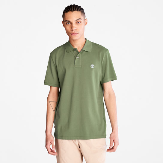 Millers River Pique Polo Shirt for Men in Green | Timberland