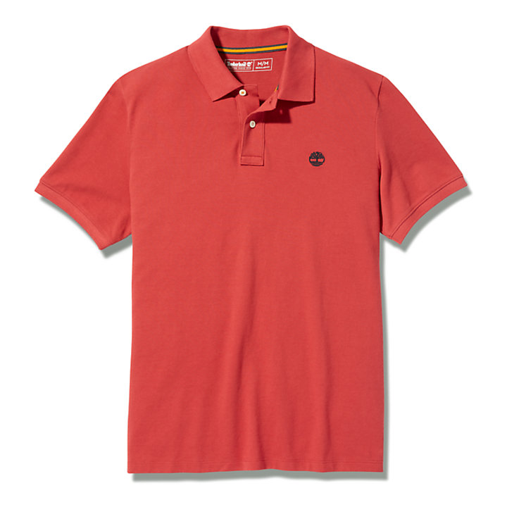 Millers River Pique Polo Shirt for Men in Red-