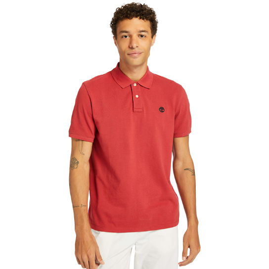 Millers River Pique Polo Shirt for Men in Red | Timberland