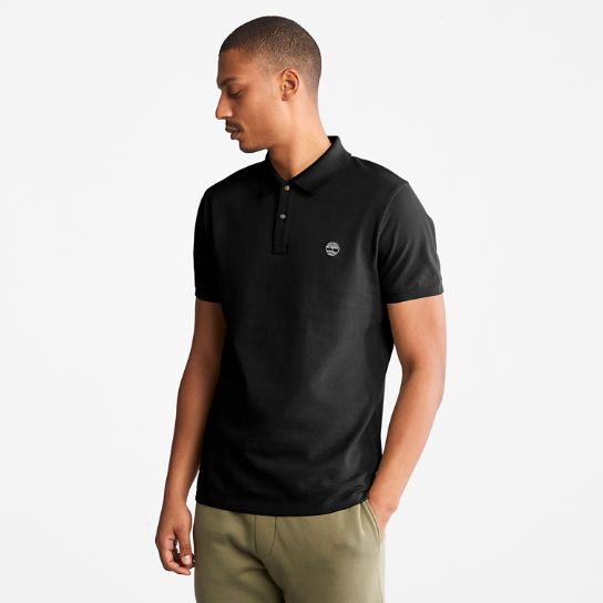 Millers River Polo Shirt for Men in Black | Timberland