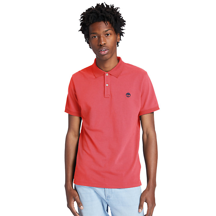 Millers River Polo Shirt for Men in Red-