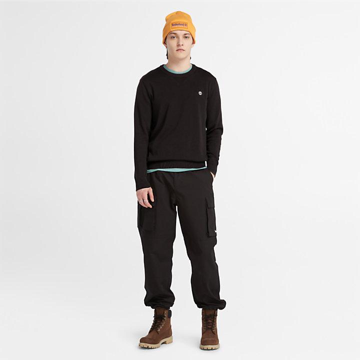 Jersey de Algodón Orgánico Williams River para Hombre en color negro-