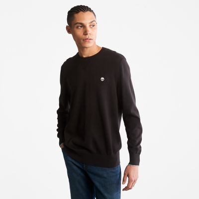 Williams+River+Organic+Cotton+Sweater+for+Men+in+Black
