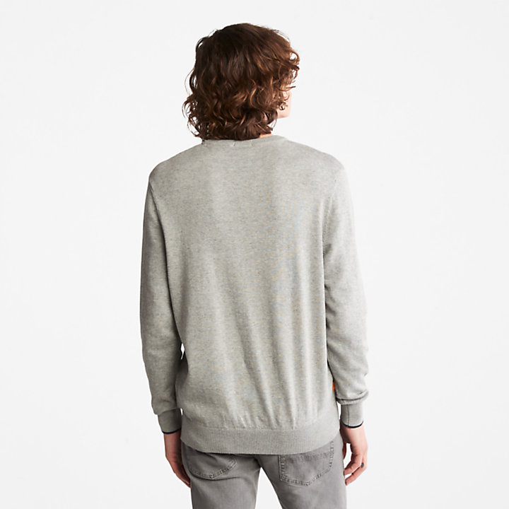 Williams River Organic Cotton Sweater for Men in Grey-