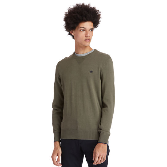 Williams River Organic Cotton Sweater for Men in Green | Timberland