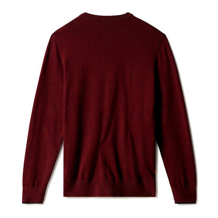 Williams River Organic Cotton Sweater for Men in Burgundy-
