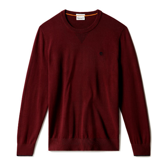 Williams River Organic Cotton Sweater for Men in Burgundy | Timberland