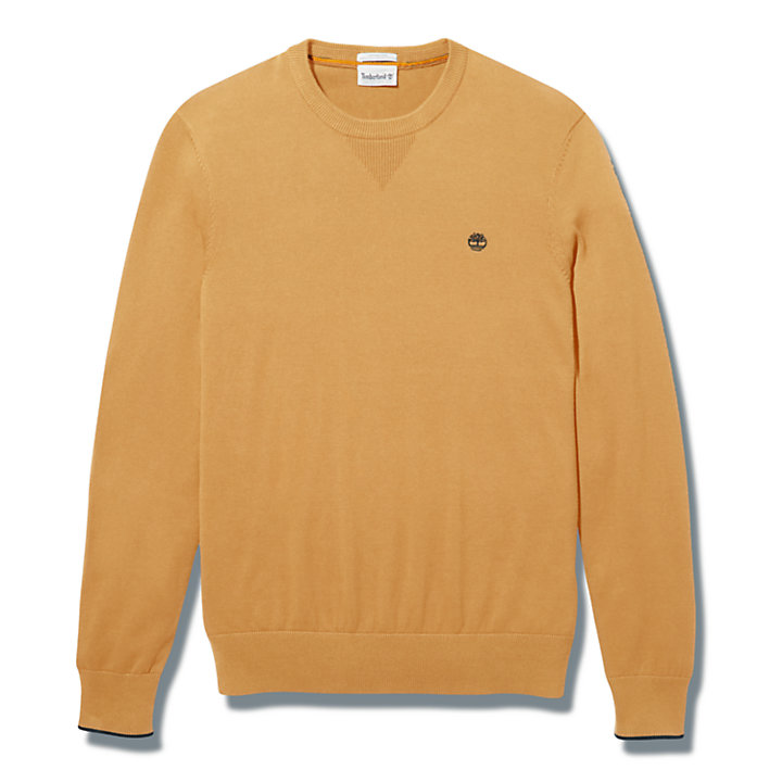 Williams River Organic Cotton Sweater for Men in Yellow-