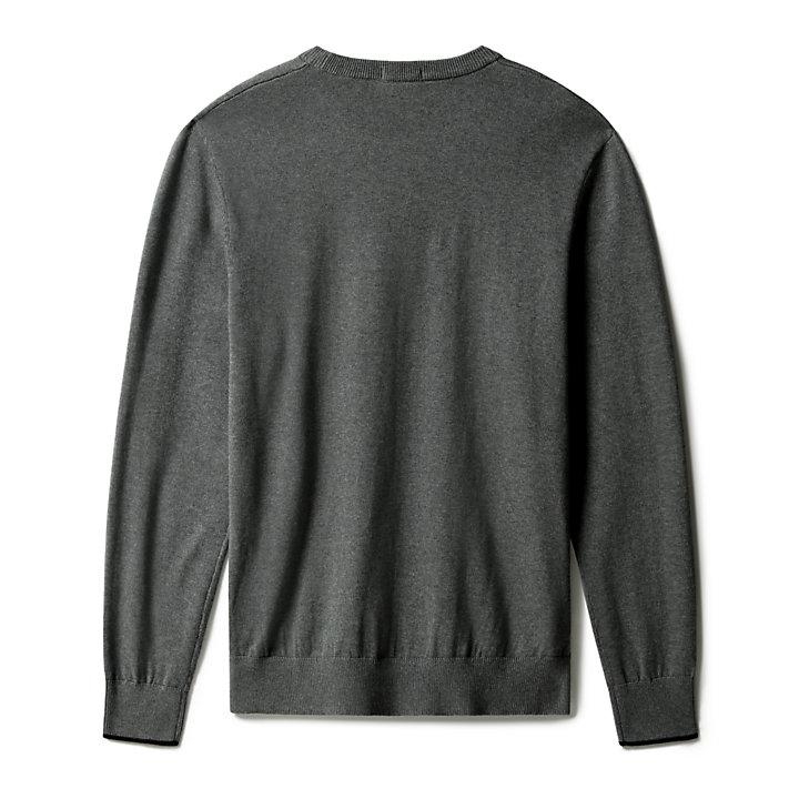Williams River Organic Cotton Sweater for Men in Dark Grey-