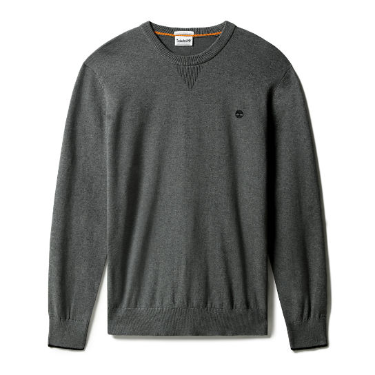 Williams River Organic Cotton Sweater for Men in Dark Grey | Timberland