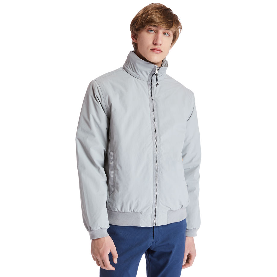 Timberland Mt Lafayette Bomber Jacket For Men In Grey Grey, Size L