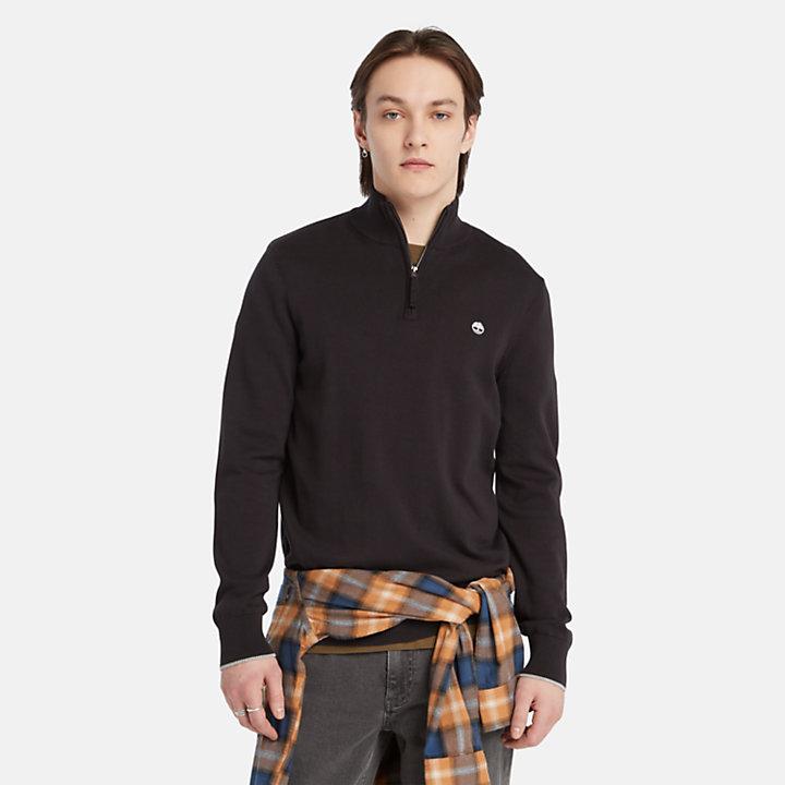 Williams River Half-zip Sweater for Men in Black-