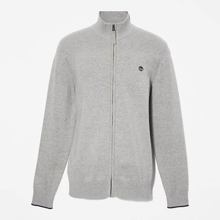 Williams River Zip Sweater for Men in Grey-