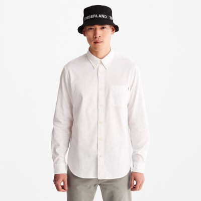 Gale+River+Long-sleeved+Oxford+Shirt+for+Men+in+White