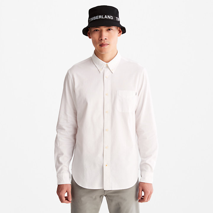Gale River Long-sleeved Oxford Shirt for Men in White-