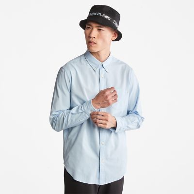 Gale+River+Long-sleeved+Oxford+Shirt+for+Men+in+Light+Blue