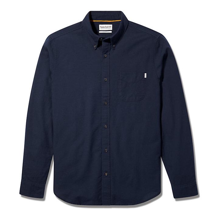 Camicia Oxford da Uomo Gale River in blu marino-