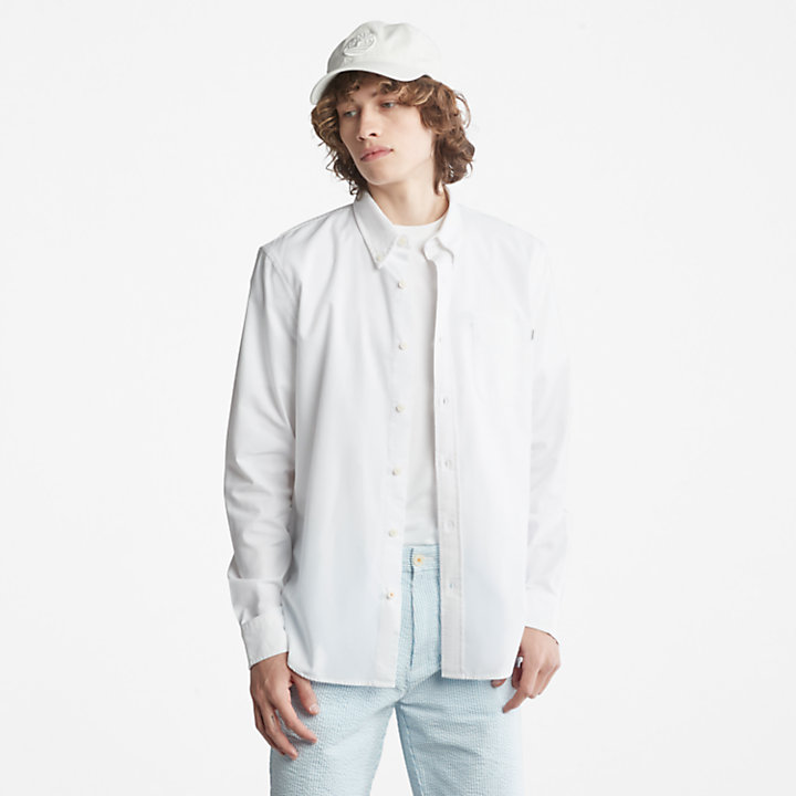 Gale River Button-Down Shirt for Men in White-