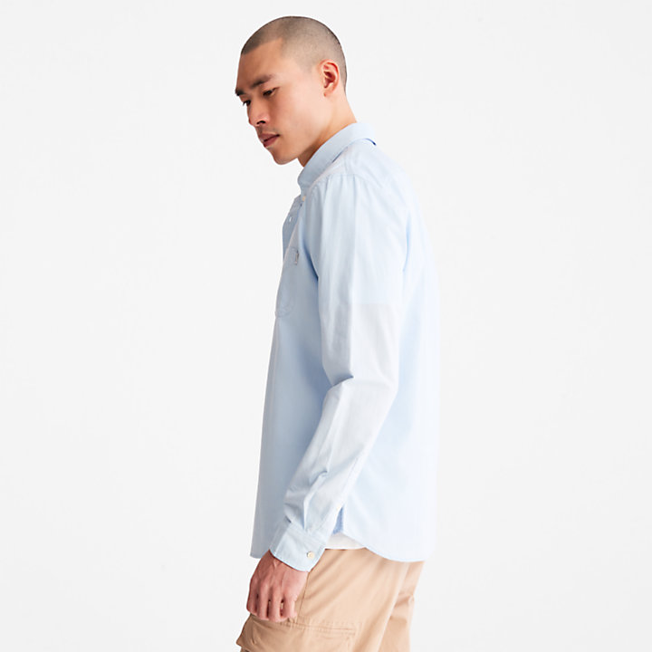 Gale River Button-Down Shirt for Men in Blue-