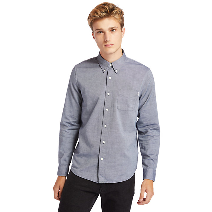 Gale River Button-Down Shirt for Men in Navy-