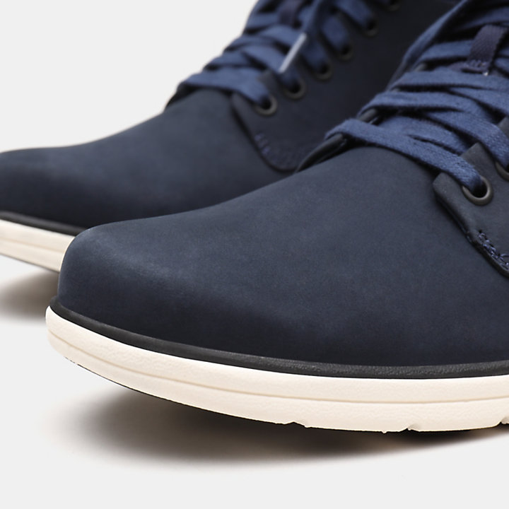 Bradstreet Leather Chukka voor Heren in marineblauw-