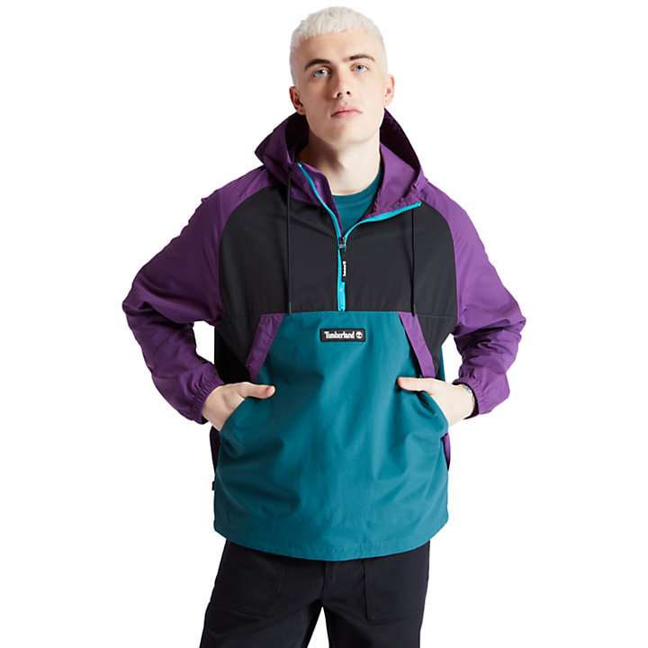 Pullover Windbreaker Jacket for Men in Purple-