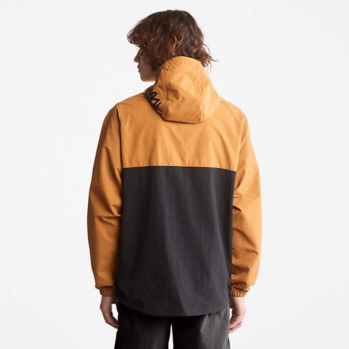 Pullover Windbreaker Jacket for Men in Yellow-