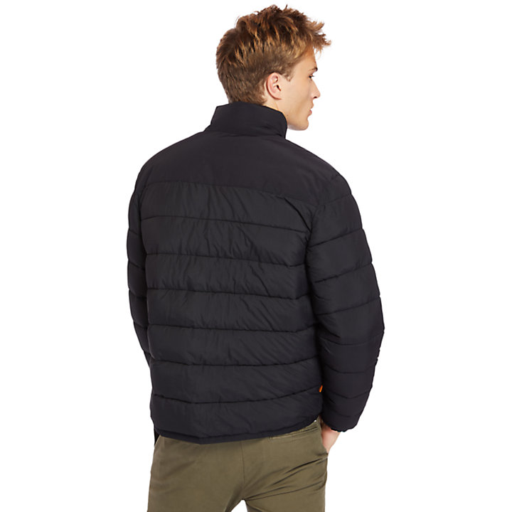 Garfield Funnel-Neck Quilted Jacket for Men in Black-