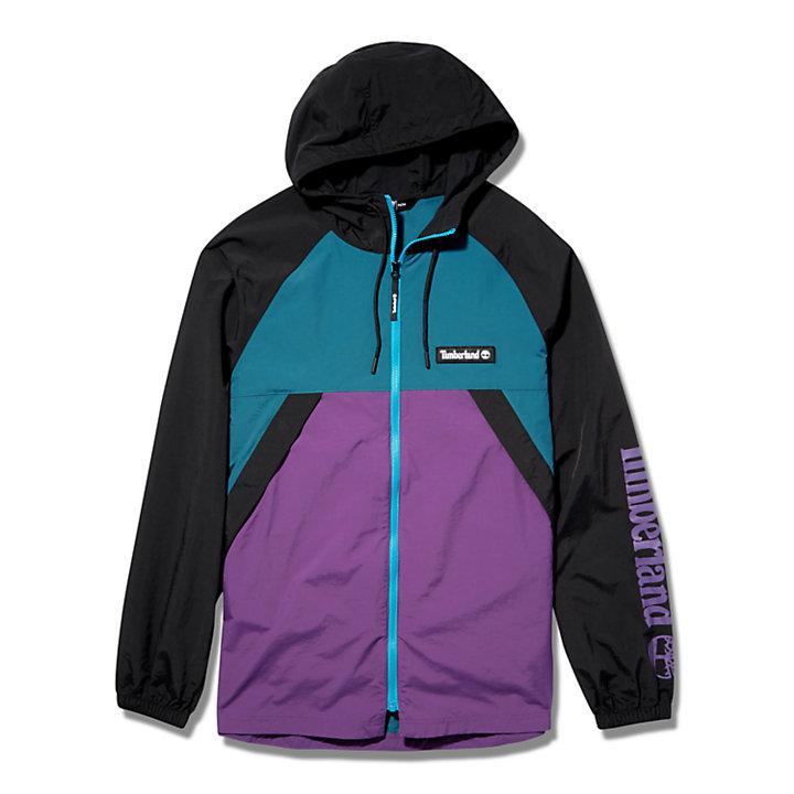 Windbreaker Zip Jacket for Men in Blue/Purple-