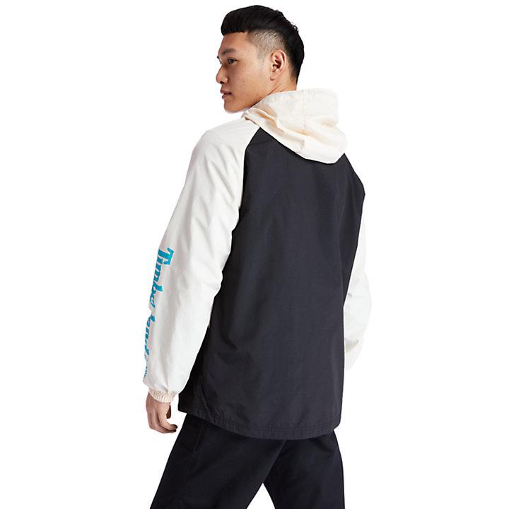 Veste coupe-vent zippée pour homme en beige/noir-