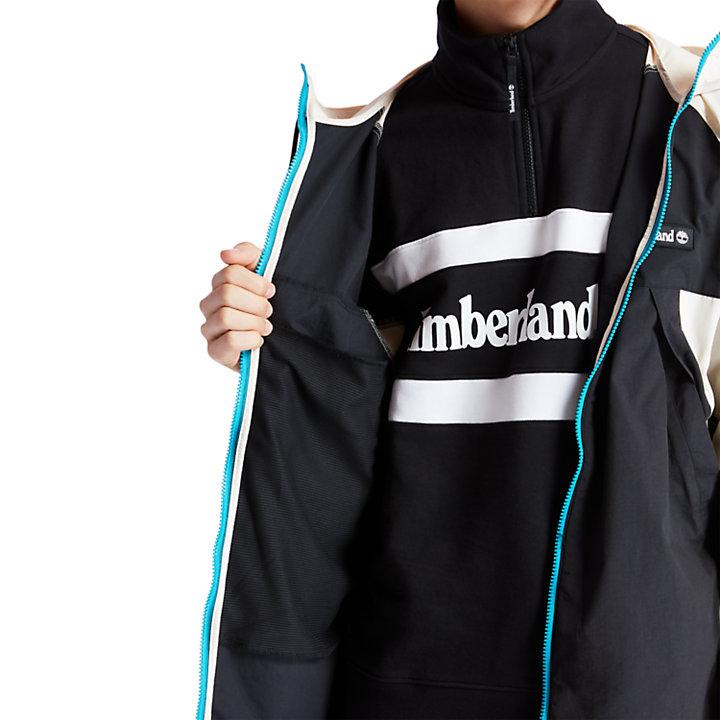 Windbreaker Zip Jacket for Men in Beige/Black-