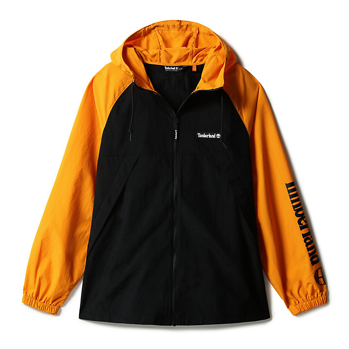 Windbreaker Zip Jacket for Men in Orange/Black-