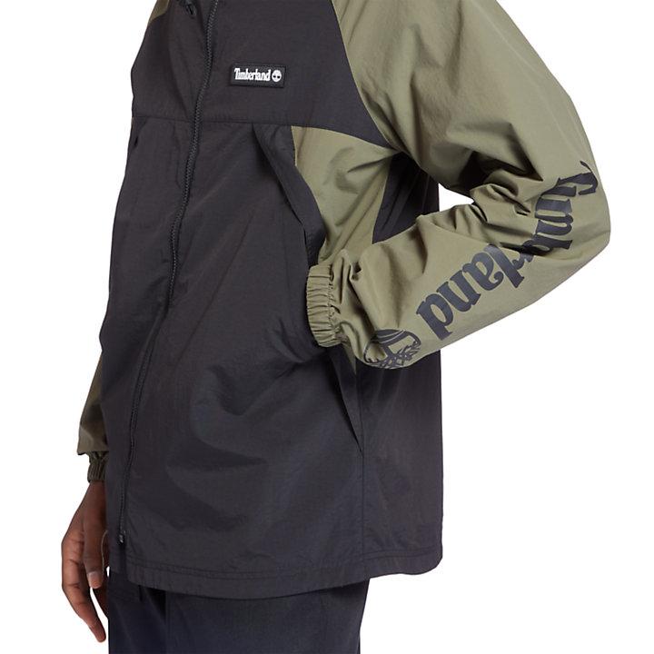 Windbreaker Zip Jacket for Men in Dark Green-