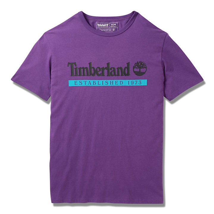 T-shirt Established 1973 pour homme en violet-