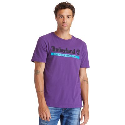 T-shirt+Established+1973+pour+homme+en+violet