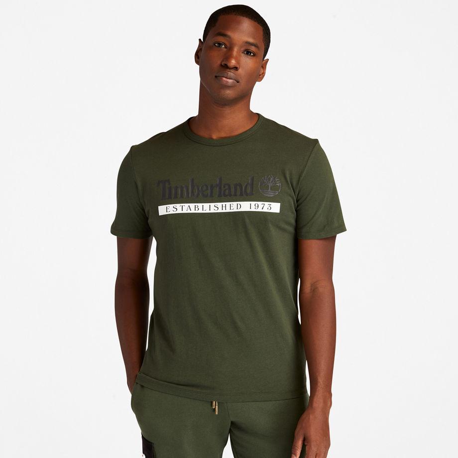 T-shirt Established 1973 En Foncé Foncé, Taille L - Timberland - Modalova