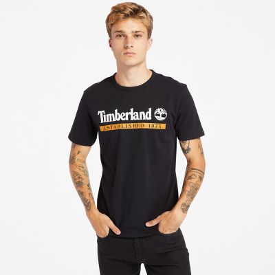 Established+1973+T-Shirt+f%C3%BCr+Herren+in+Schwarz
