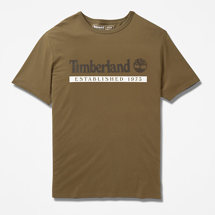 Established 1973 T-Shirt für Herren in Grün-
