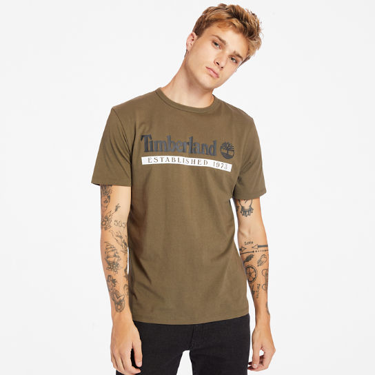 Established 1973 T-shirt voor Heren in groen | Timberland