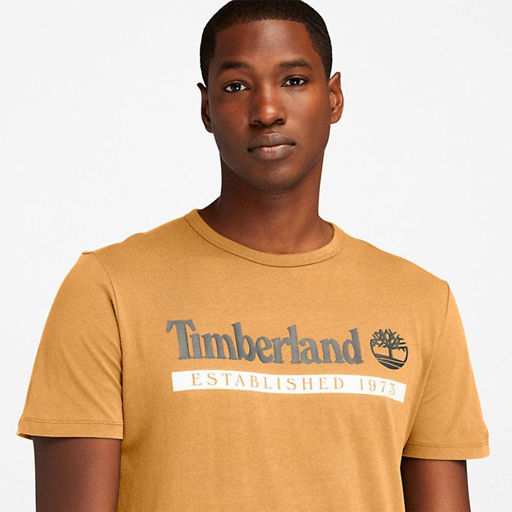 Camiseta Established 1973 para Hombre en amarillo-